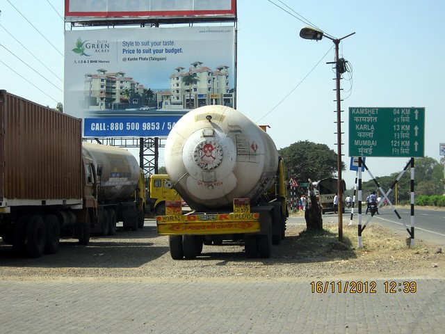 Hoarding of Elite Green Acres on Old Mumbai Pune Highway - N H 4 at Kanhe