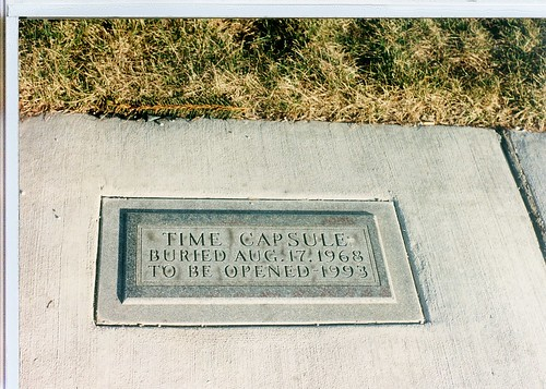 Mystery burried time capsule in Chicago's Westlawn neighborhood.  Chicago Illinois.  January 1990. by Eddie from Chicago