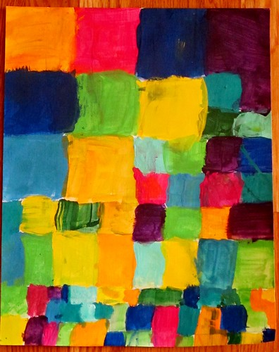 R's acrylic color quilt