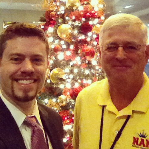 NAM Directors Brian Cournoyer and Lew Schneider by the Christmas tree in the pageant foyer!