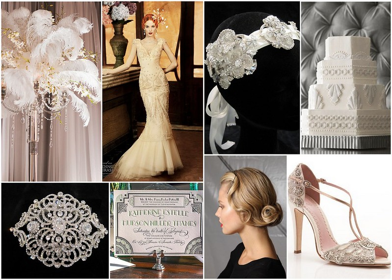 Art deco bridal inspiration bridal styles for Deco inspiration