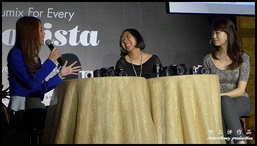 Julie Woon and two professional photographers shared their experience on the new LUMIX cameras during the launch.