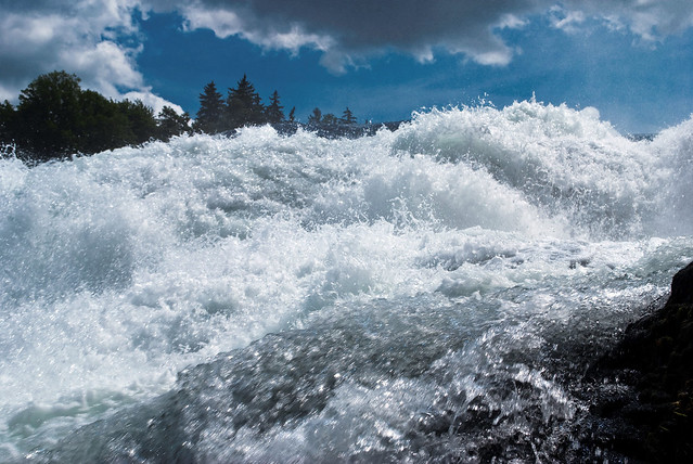 Svizzera, Neuhausen am Rheinfall, le cascate
