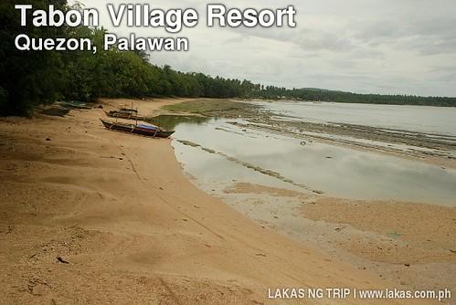 Beach at Tabon Village Resort in Quezon, Palawan