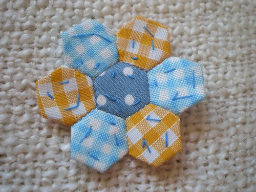 Tiny Miniature Patchwork Hexagons