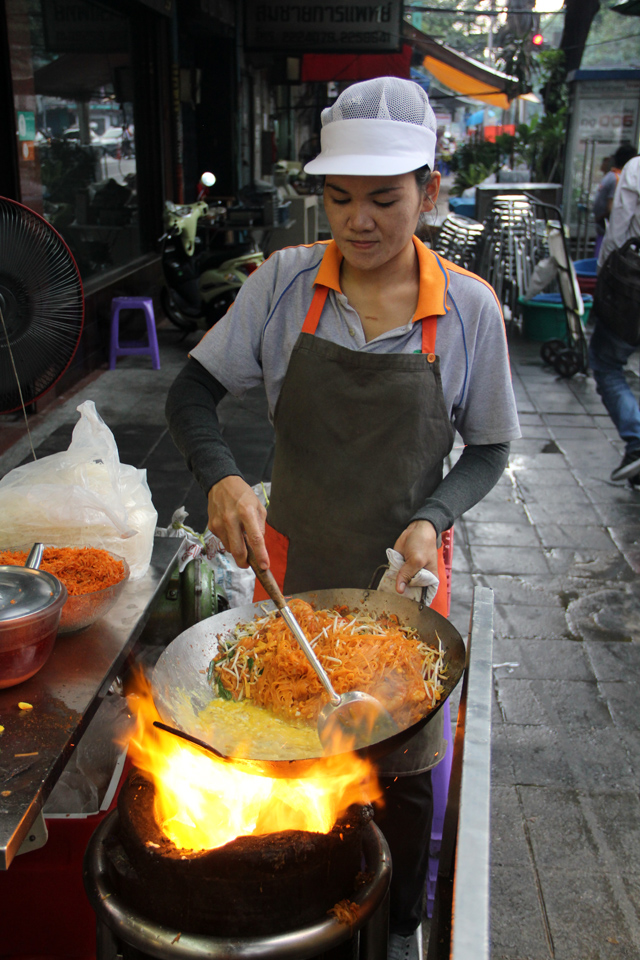 Eating Pad Thai in Bangkok
