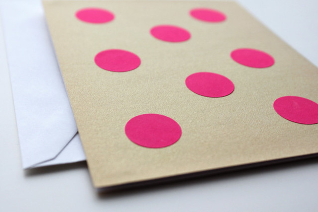 DIY Polka Dot Cards, just bella