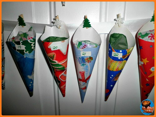 DIY Cone Advent Calendar (Photo from Glittering Muffins)