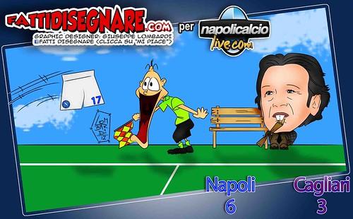 Vignetta Napoli-Cagliari 6-3 by Giuseppe Lombardi