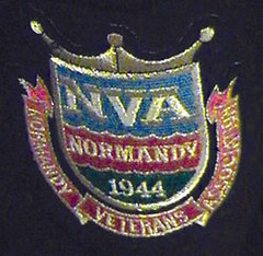 This patch from the Normandy Veterans  Association is given to the British soldiers who fought at Normandy on D-Day,  June 6, 1944.
