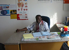 Dr. Wingi owns and operates his own  small clinic in central Botswana.