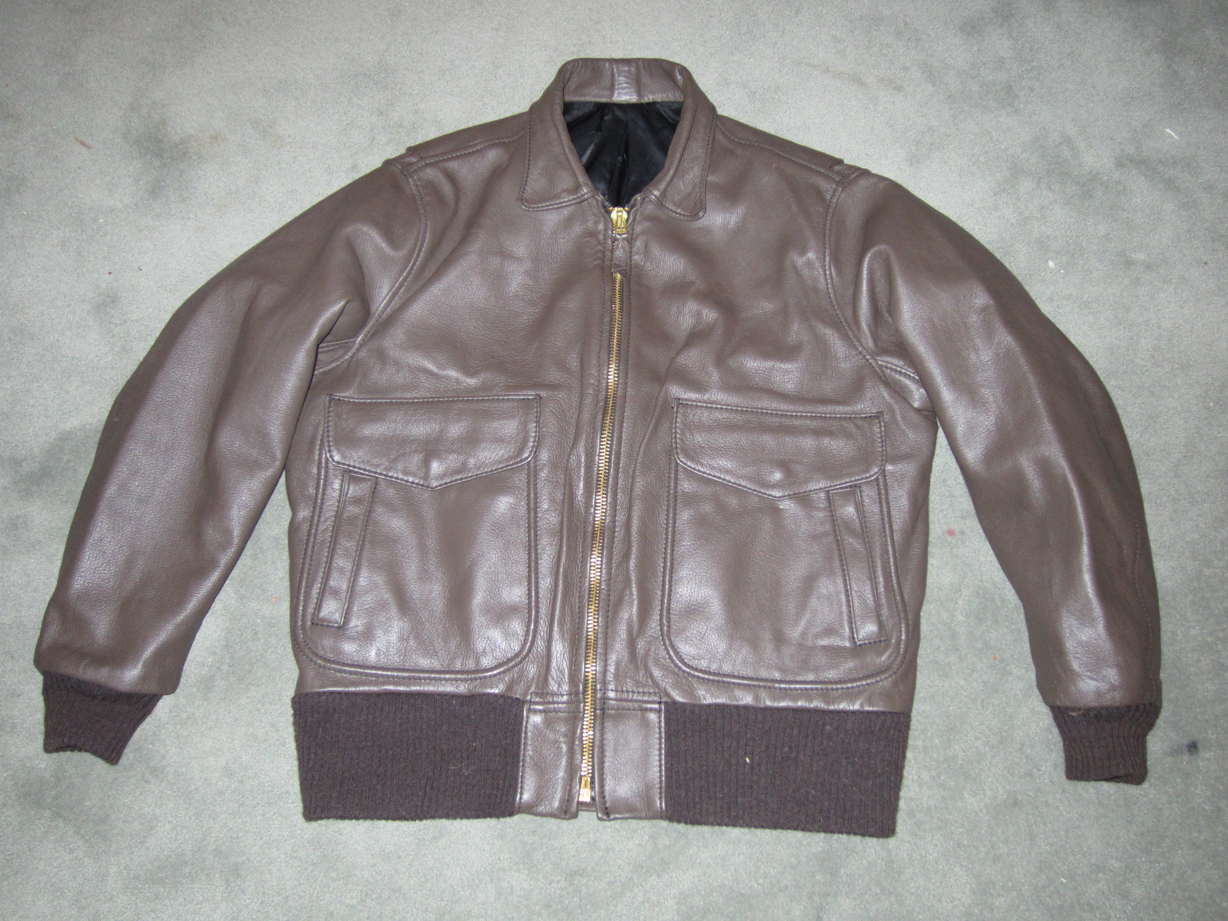 FS - Langlitz Flight Jacket Brown Goatskin sz-48 | The Fedora Lounge