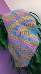 Fuzzy shawl