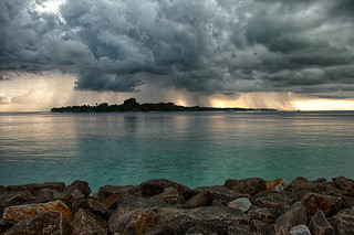 Rain clouds over Kuramathi