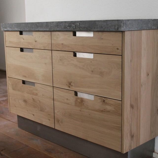 Design Massief eiken houten keuken met ikea keuken kasten door Koak ...