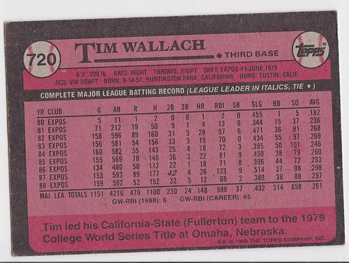Tim Wallach Bacl
