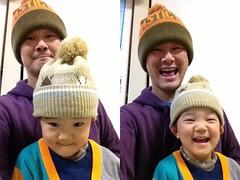 帽子をかぶってみました 2012/12/1