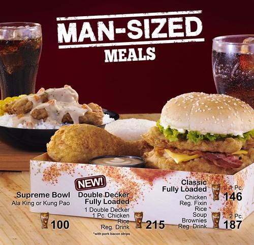 KFC Man-Sized Meals