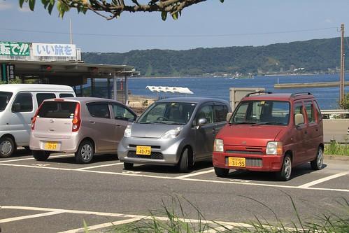 Kei cars Sakurajima