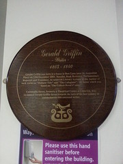 Photo of Gerald Griffin wood plaque