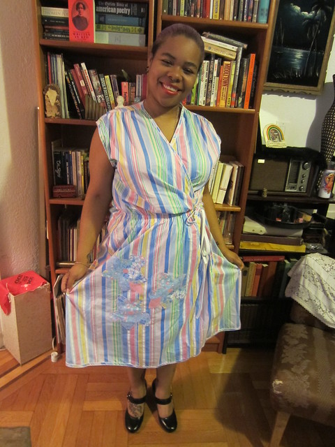 1X/2X Cotton Pastel Vintage Wrap Dress $32 (#35)