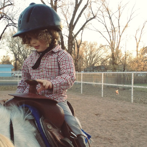 can you handle those curls under that helmet? (yesterday's advent fun.) #latergram