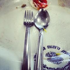 glass(0.0), fork(1.0), spoon(1.0), purple(1.0), tool(1.0), tableware(1.0), food(1.0), cutlery(1.0),