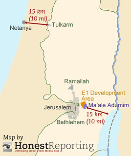 Map of E1 Area in West Bank