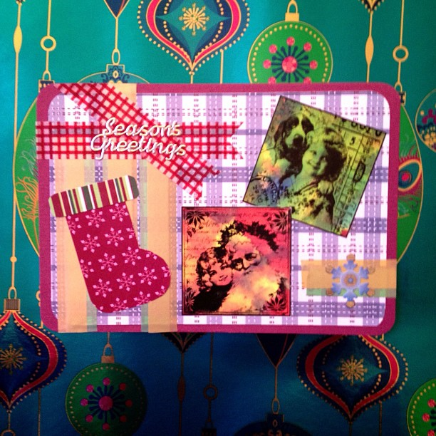 #christmas #stocking #snailmail #postcard #washitape #snowflake #santaclaus