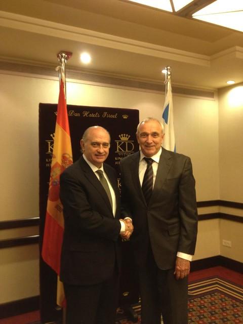 Los ministros del interior de espa a e israel refuerzan la for Gobierno de espana ministerio del interior