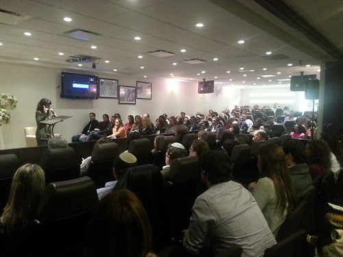 Nitsana Darshan-Leitner speaks at Aish conference in Mexico City by Shurat HaDin - Israel Law Center