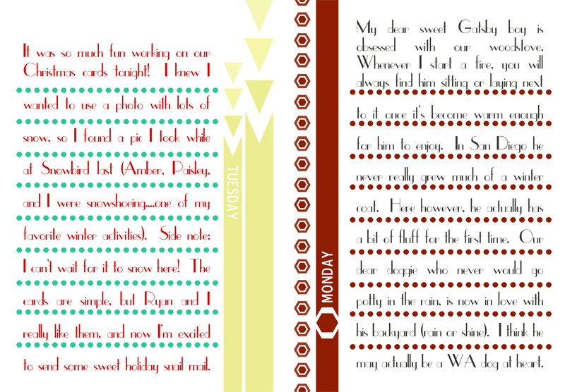 {december daily} days 3 & 4 journaling