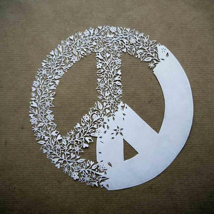 Peace Sign papercut (wip)