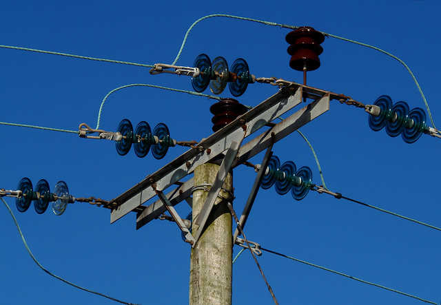 Power lines and insulators flickr photo sharing for Power line insulators glass