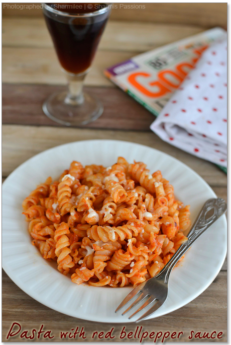 Pasta in Red BellPepper Sauce