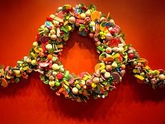 jewellery(0.0), decor(1.0), christmas decoration(1.0), wreath(1.0), bead(1.0),