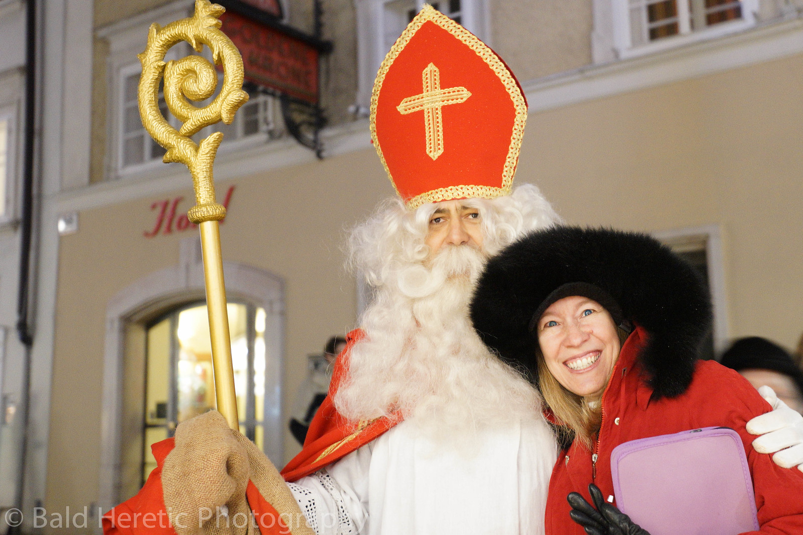 Cynthia and St. Nick on Krampusnacht
