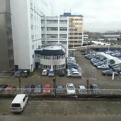 laatste dag om van dit Alexanderpolder-uitzicht te genieten, maandag verder in Amsterdam!...