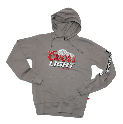 Coors Light Hooded Sweatshirt - Gray