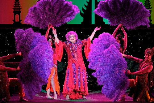 """Dame Edna Everage in her farewell live tour, """"Eat, Pray, Laugh!"""""""