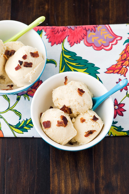 Maple Gelato with Candied Bacon