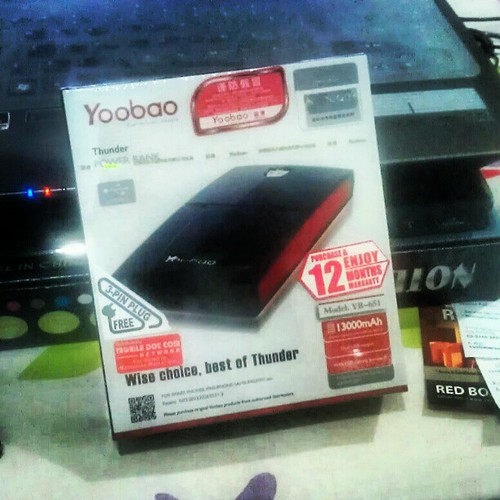 Power Bank 13000mAh oleh Yoobao. Tawaran terbaik di PIKOM PC Fair KLCC. #gadget #tech #snap #weekend
