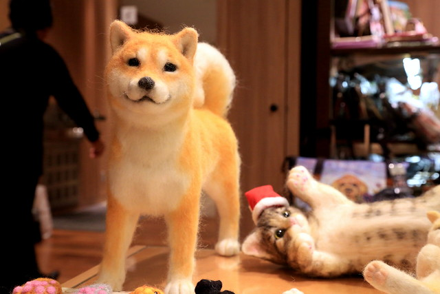 Dog & Cat Doll - GINZA Illumination2012