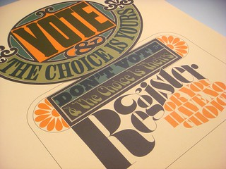Lubalin poster set, print #2: Vote poster