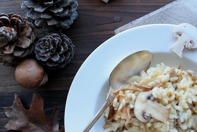 risotto aux c pes s ch s et champignons de paris pour pr parer no l 2 aime mange. Black Bedroom Furniture Sets. Home Design Ideas