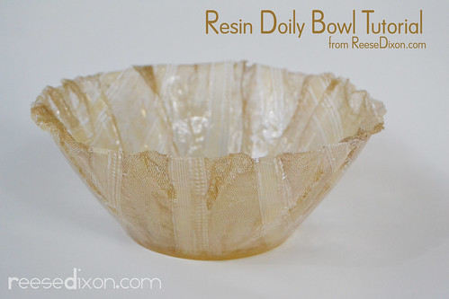 Lace Doily Bowl Tutorial