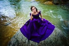 [フリー画像素材] 人物, 女性 - アジア, ワンピース・ドレス, 人物 - 河川・湖 ID:201212191400