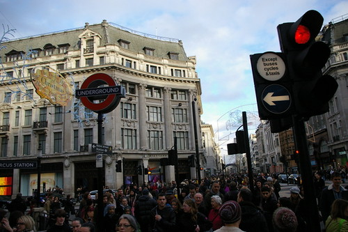 Oxford Circus Xmas Shopping