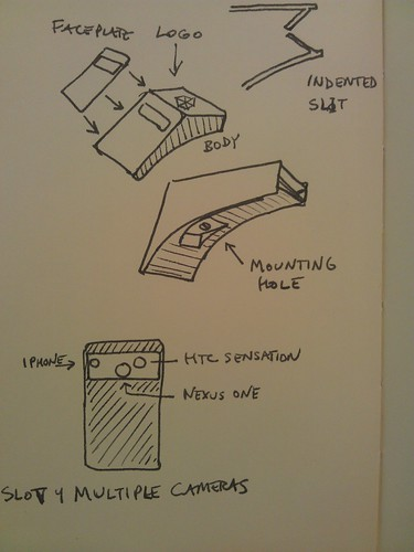 Rigid Backpack spectrometer sketches
