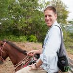 Dan on Horseback - Morgan's Rock, Nicaragua